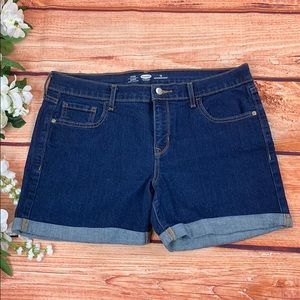 Old Navy Fitted Blue Denim Jeans Shorts